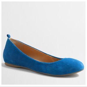 J. Crew Anya Blue Suede Ballet Flats 8